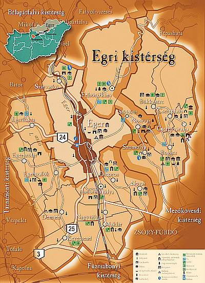 térkép eger és környéke Egri kistérség ~ Eger Szállás térkép eger és környéke